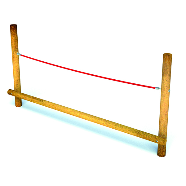 Balancing Beam with Holding Rope