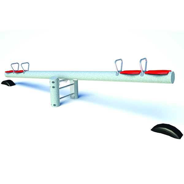Galvanised Steel Four-Seater Seesaw