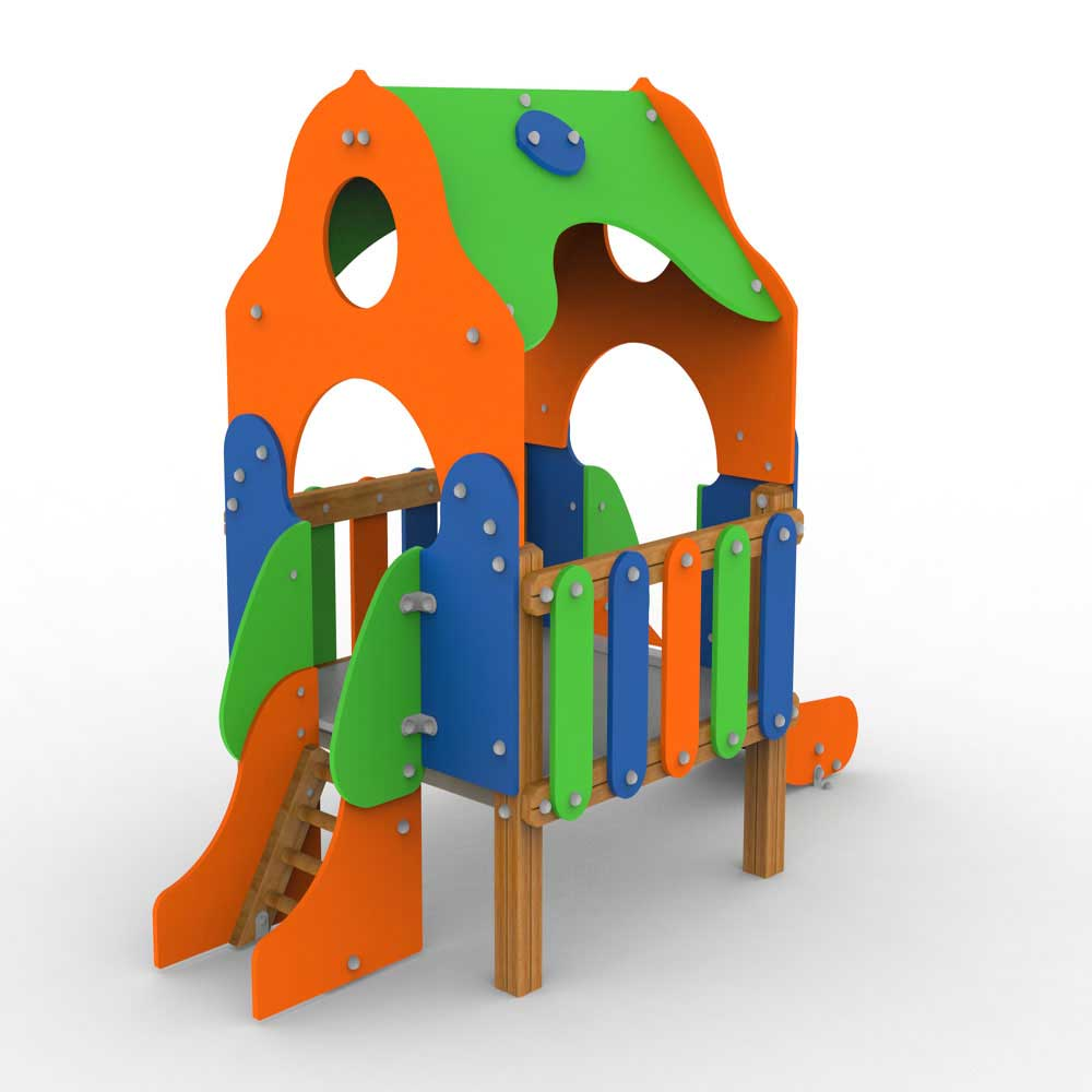 Comic Playhut with Slide
