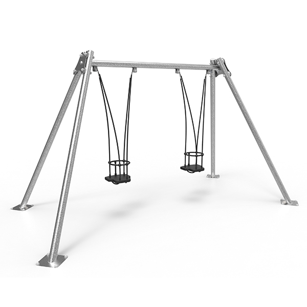 Metal Double Swing with Cradle Seats and Anti-wrap Bearings