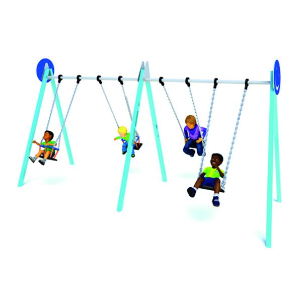 2 Bay 2 Flat 2 Cradle Seat A Frame Anti-wrap Swing