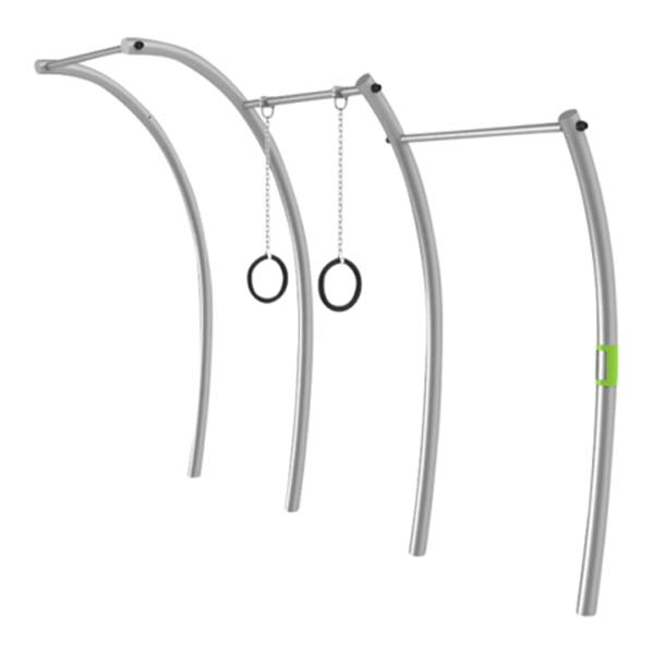 Triple Pull Up w. Rings- Outdoor Gym Equipment