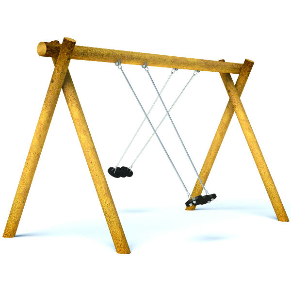 Double Flat Seat Swing