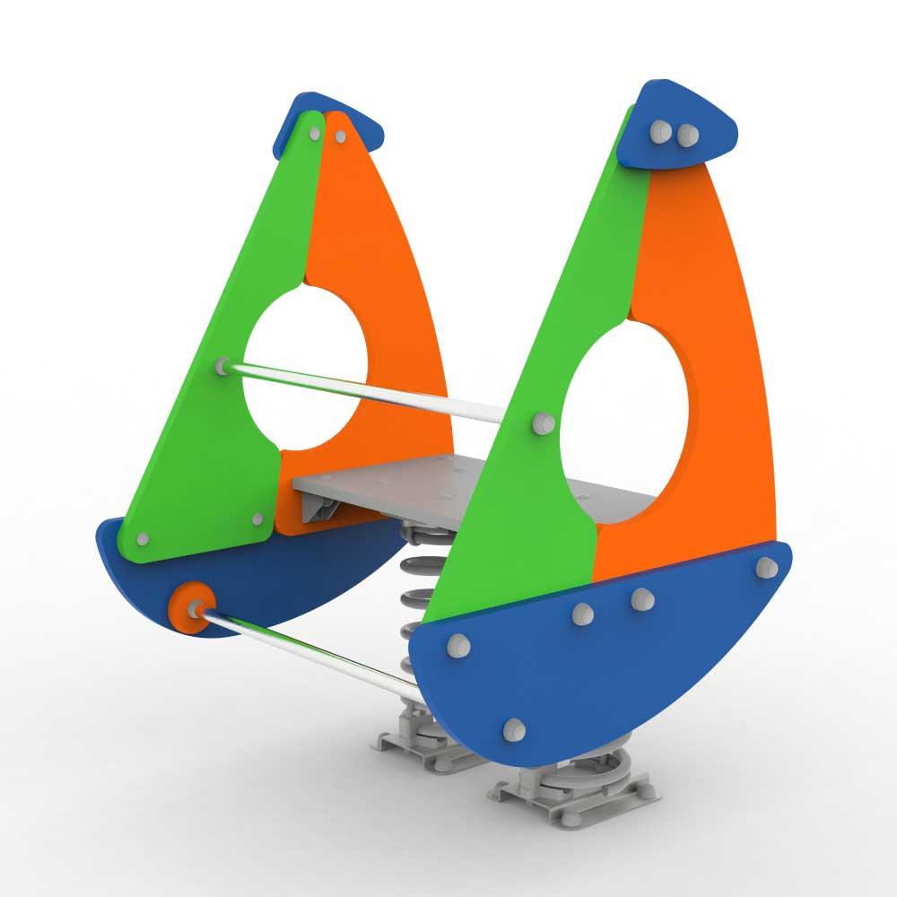 Comic Sailing Boat Springer